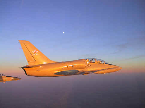 L-39s chase the moon.