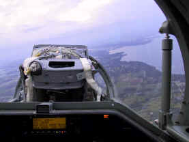 Back seat visibility in L-39