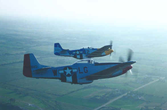 P-51 formation