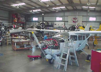A typical rebuild shop. Great American Aircraft Maintenance, in Torrance, California, USA