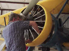 Stearman maintenance underway